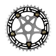One Piece Alloy Chainring & Spider
