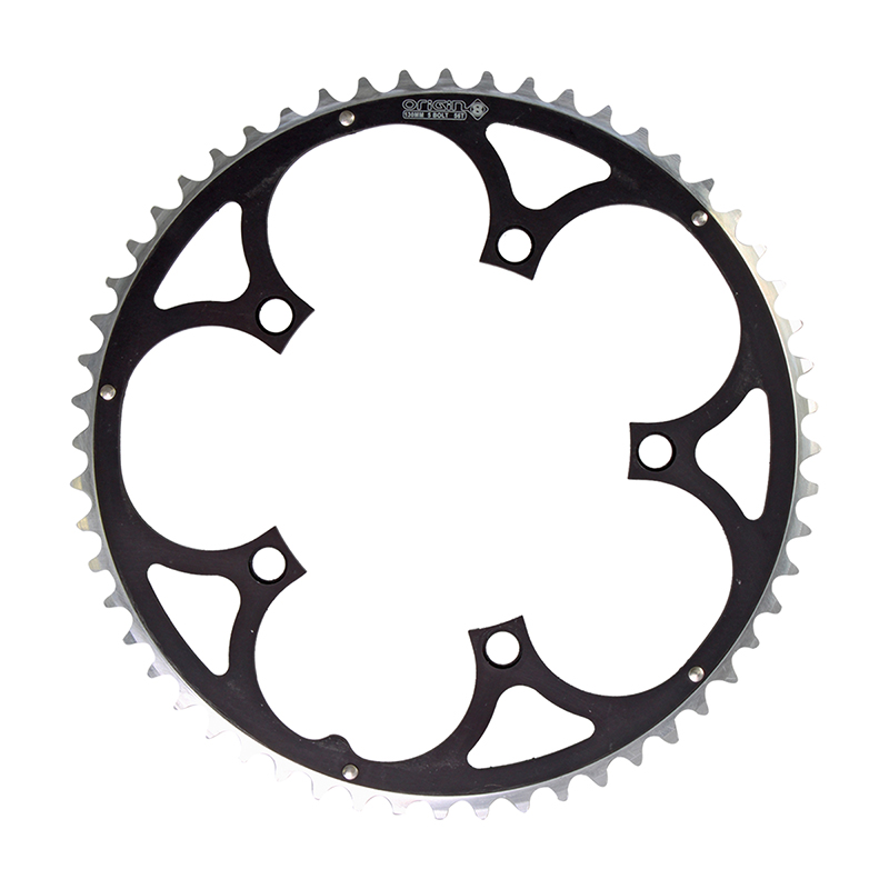 ORIGIN8 RAMPED 130mm 5-BOLT 56T BLACK ALLOY BICYCLE CHAINRING