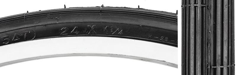 Wire Street 50 24X1-1//4 S5//6-547 Bk//Blk Sunlite Street S-6 Tires