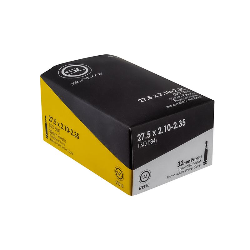 SUNLITE Standard Presta Valve 27.5x2.10-2.35 Tube 32mm Threaded Removable
