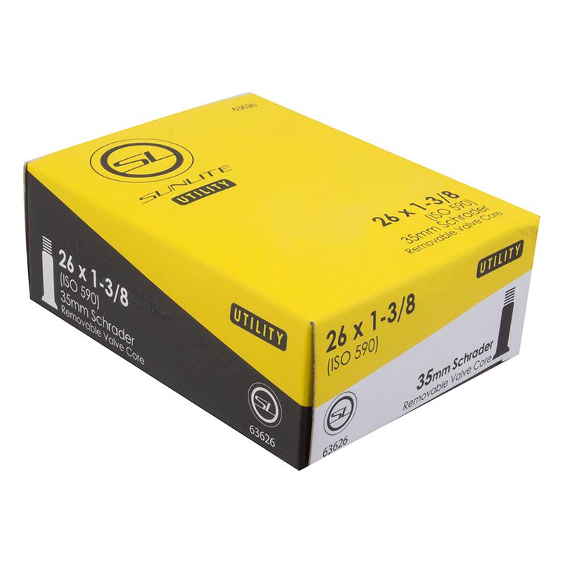 Sunlite Utili-T Standard Schrader Valve Tubes Tubes 26X1-3//8 Sv 0D 35Mm