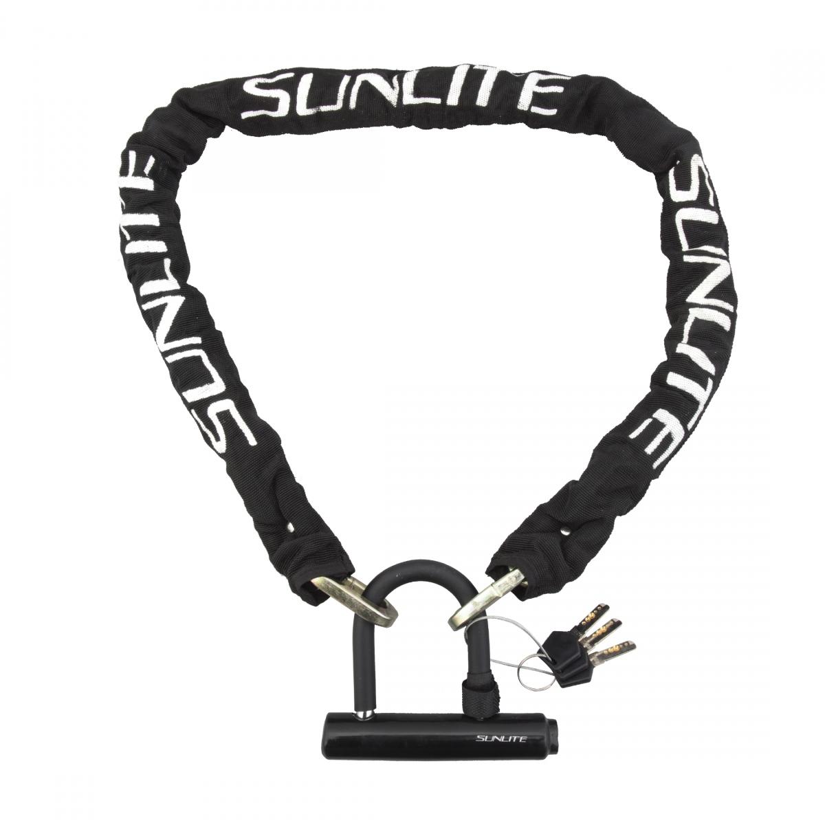 Sunlite Defender Key//Chain Lock Lock Sunlt Dfndr 2 Chain 4f W//intgrtd Lock