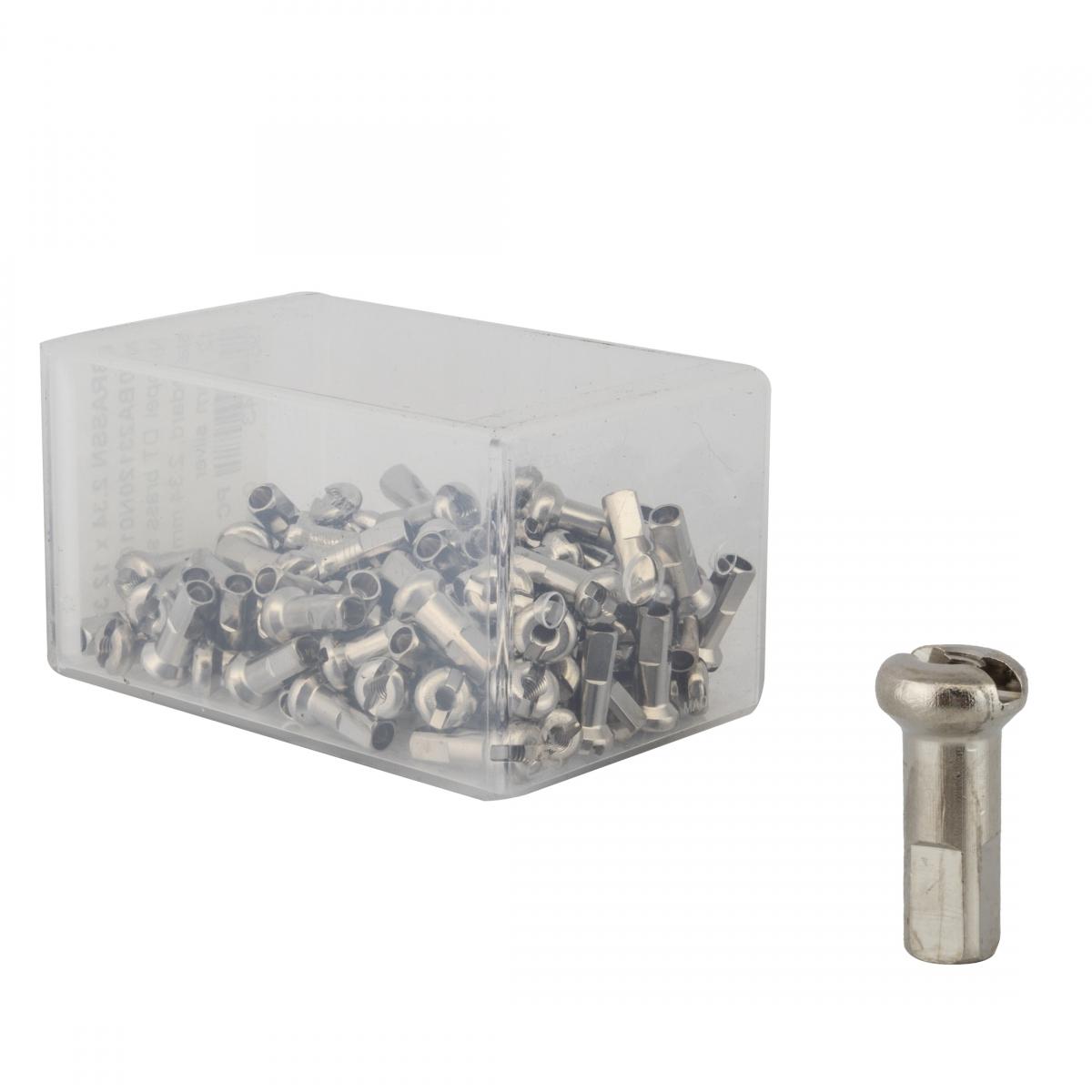 Dt Swiss Pro Lock//Pro Head Nipples Spoke Brass 2.0x12mm Sl Bxof100