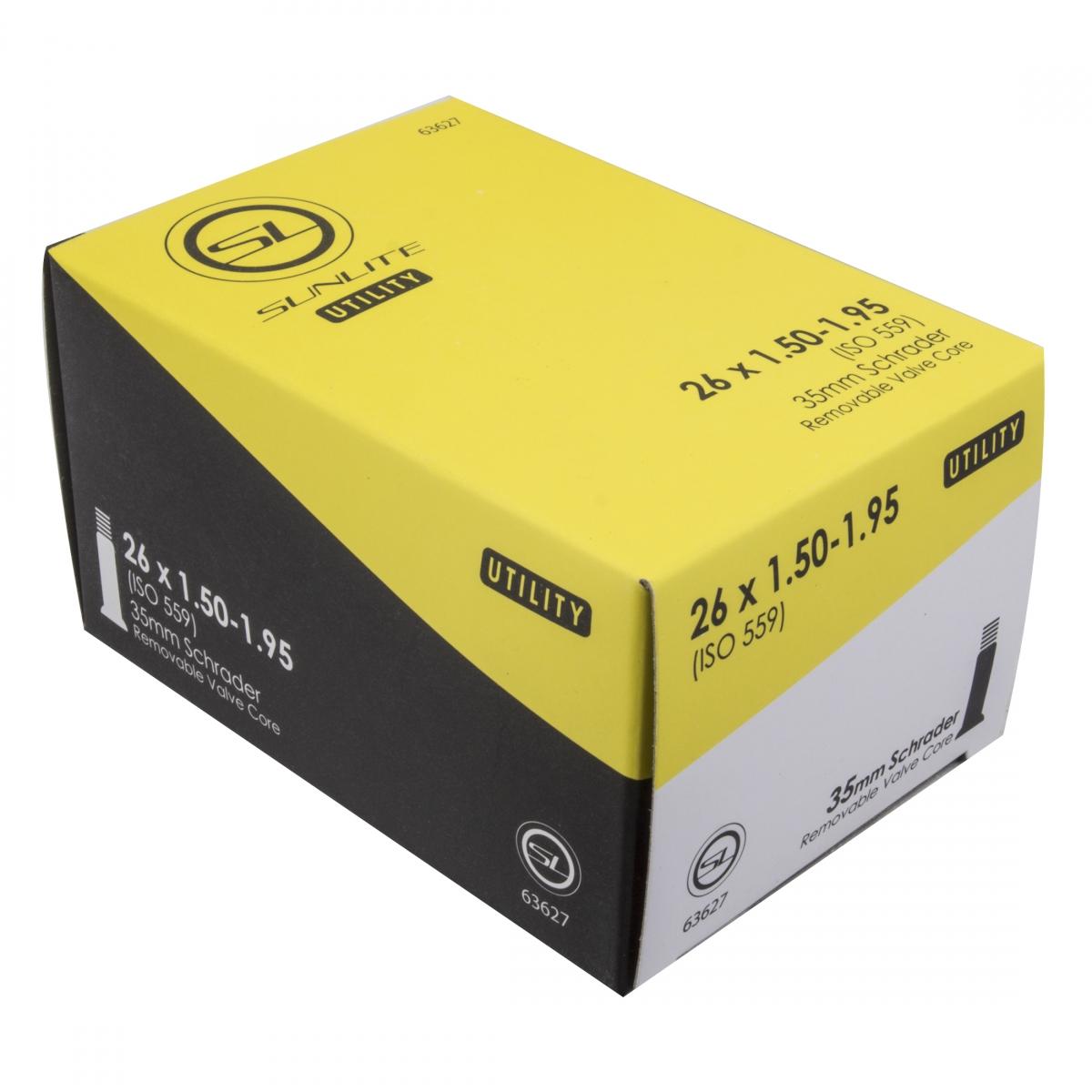 Sunlite Utili-T Tube 26X1-3//8 Schrader Valve 35mm