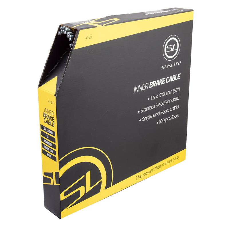 Sunlite cables de freno Freno de Cable Sunlt 1.6x1700 SS RD Bxof100