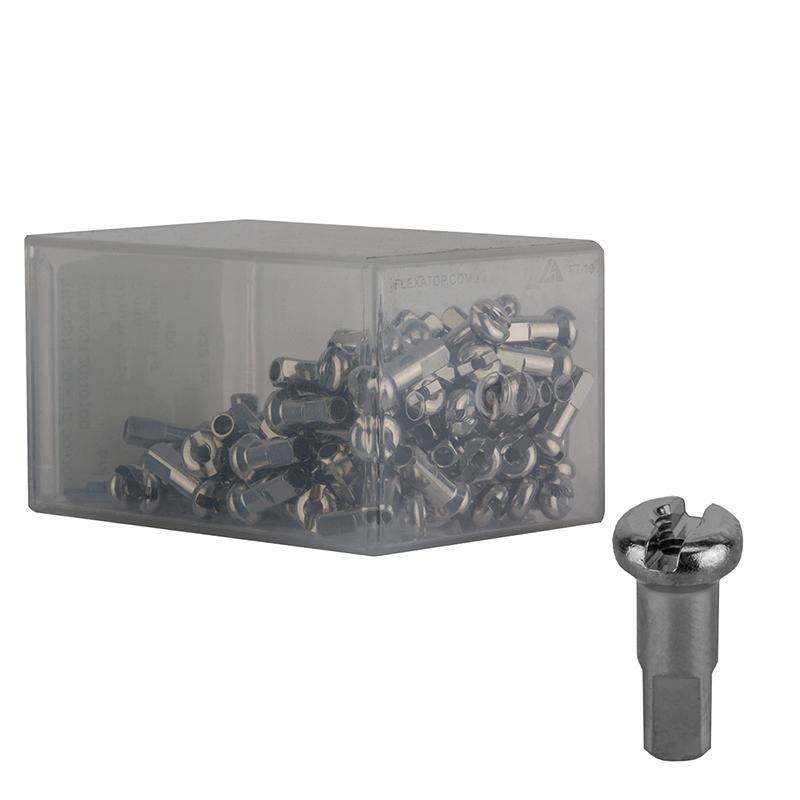 DT Swiss Standard Brass Nipples Box of 100 2.0 x 12mm Silver