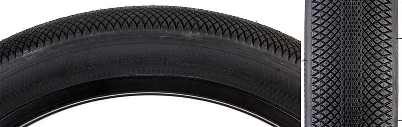 Sunlite Baja Tire Sunlt 26x3.5 Bk//bk Wire Wh-stripe Baja