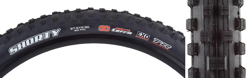 Maxxis Shorty 3C EXO TR Tire Max Shorty 27.5x2.3 Bk Fold 60 3c exo tr