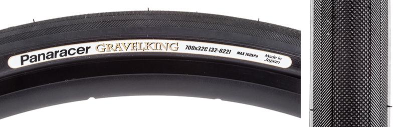 Panaracer Gravel King Slick Tire Pan Gravel King Slick 700x32 Fold Bk