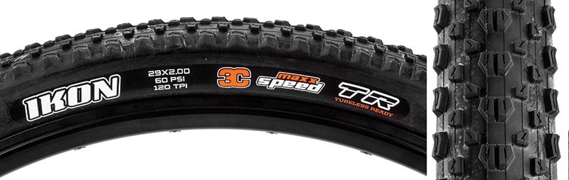Maxxis Ikon 3C//EXO//TR Tire Max Ikon 27.5x2.35 Bk Fold//120 3c//exo//tr