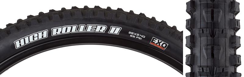 Maxxis High Roller II SGL Tire Max Highroller Ii 26x2.4 Bk Fold//60 Sc//exo