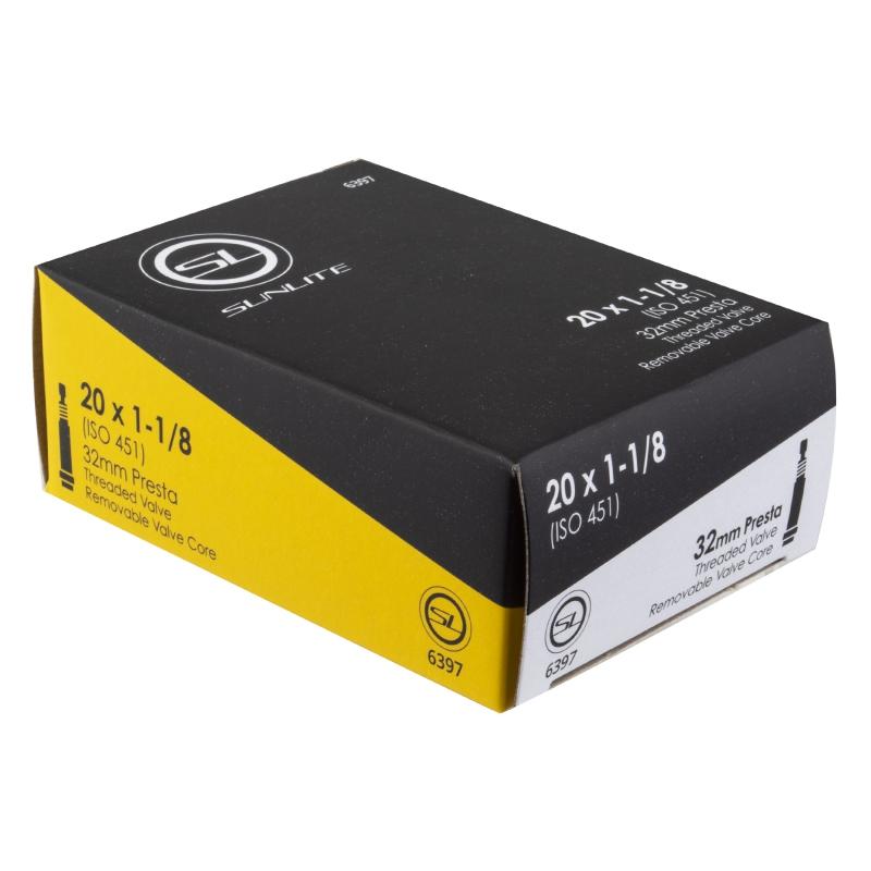 Sunlite Tube 20X1-1//8 Presta Valve 32mm 451X25